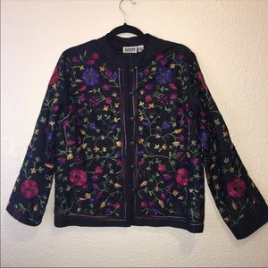 3- Chico's floral Jacket size medium